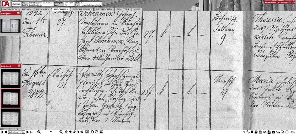 Kirchenbücher Böhmen Online